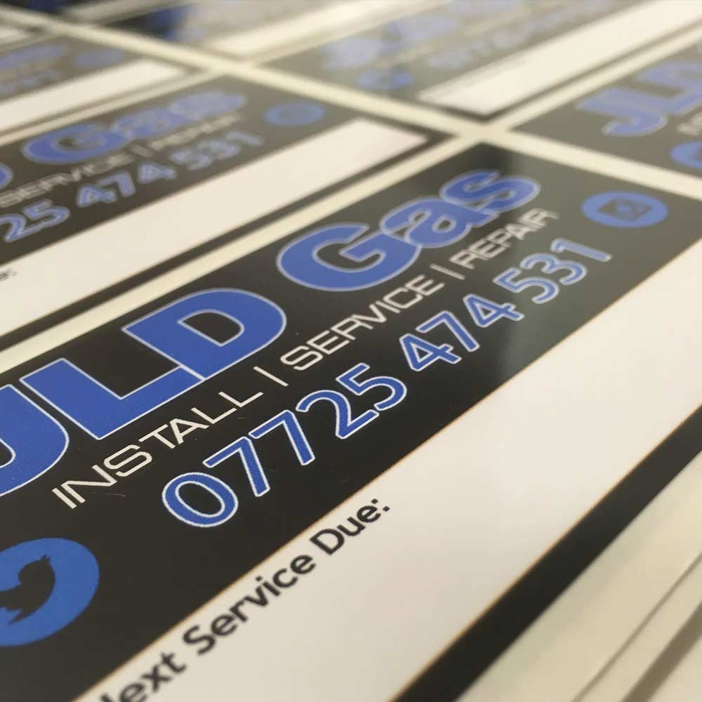 Jld gas service stickers