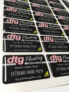 DTG domed sticker example