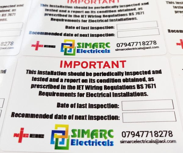 Electrician Service Stickers