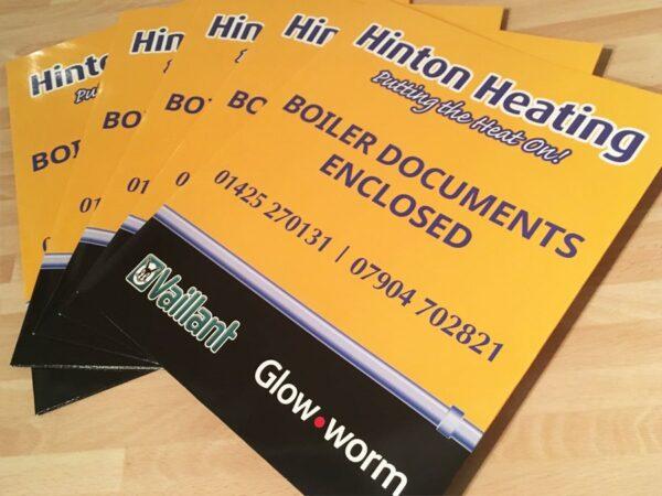 hinton heating branded folders