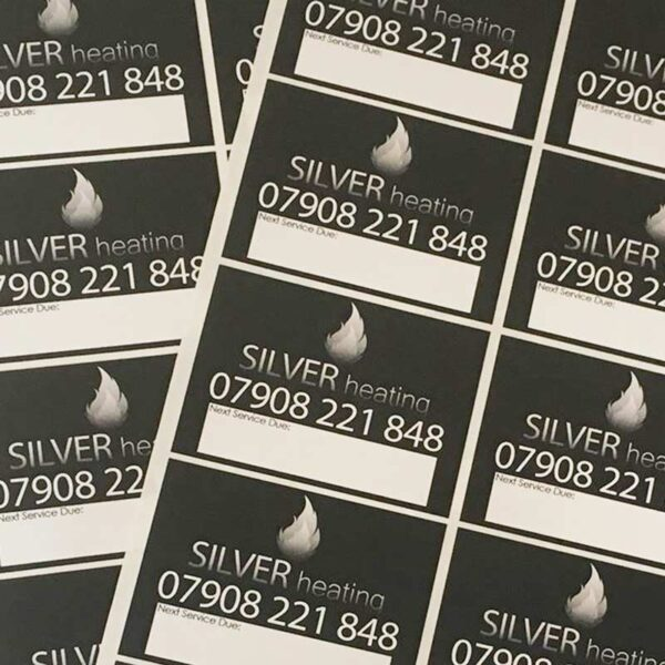 Service Stickers Silver Heating