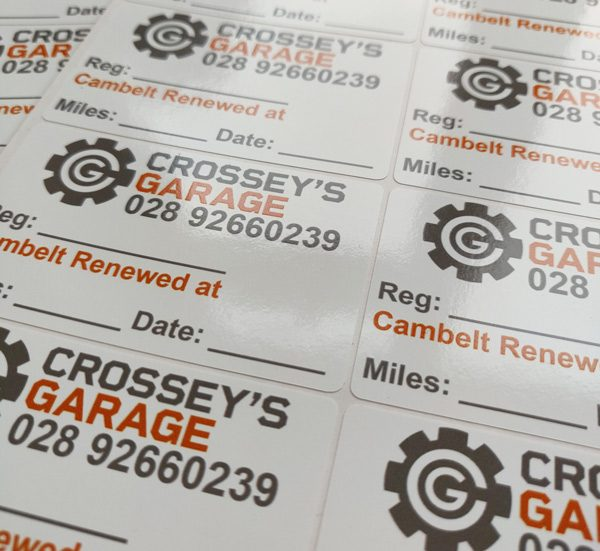 Small Branded Service Stickers