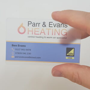 Plastic Business Card Example