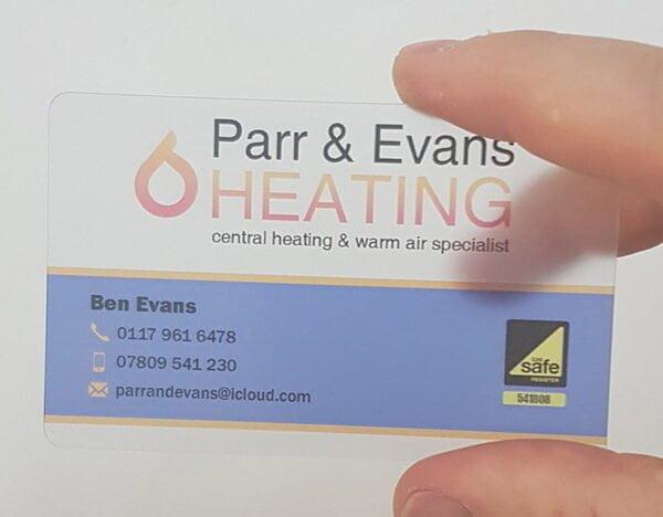 PVC Transparent Business Card Icon