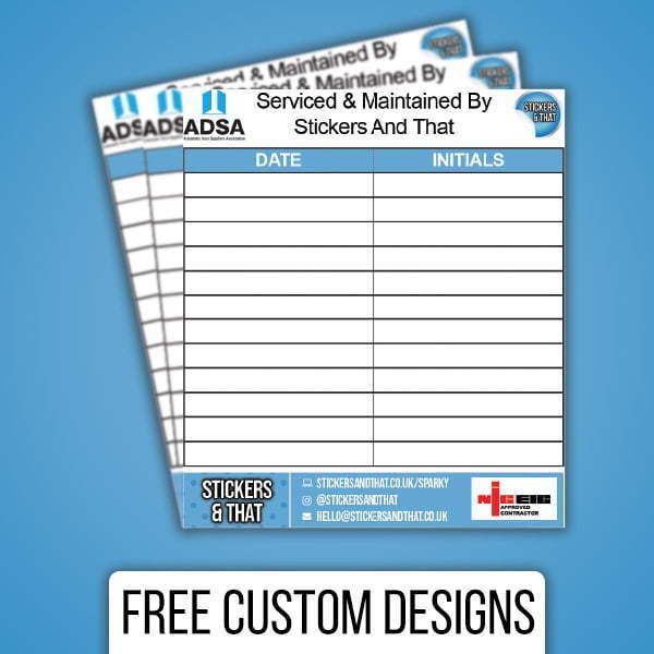 Custom Electrical Maintenance Stickers