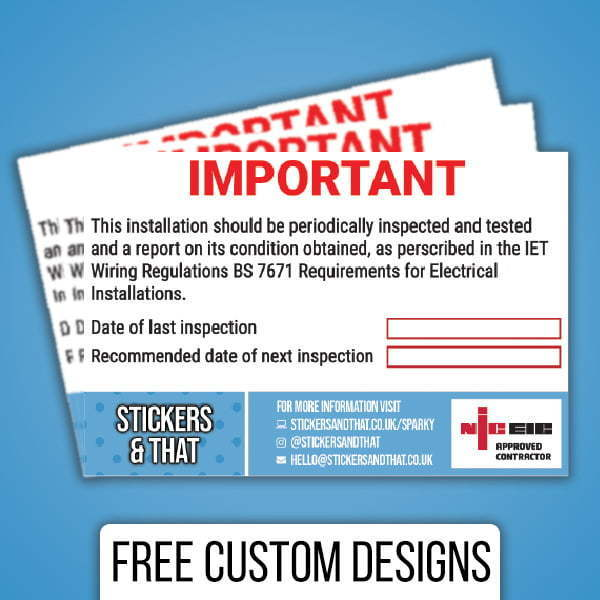 Custom Inspection Labels & Stickers