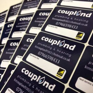 coupland service stickers