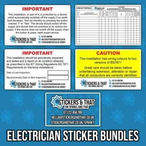 Electrician Branded Sticker Bundle