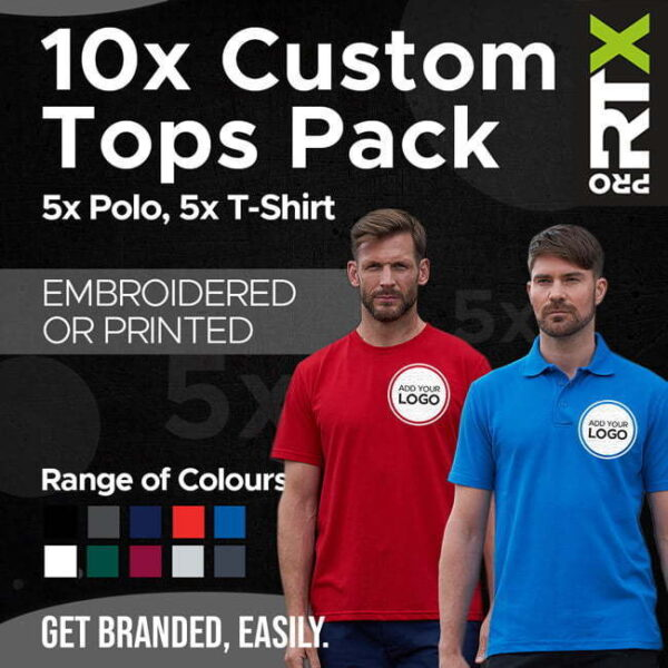 Embroidered Tshirts and Tops Pack of 10