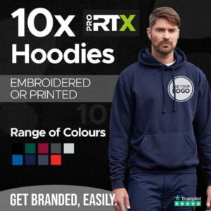 10x Embroidered Hoodies