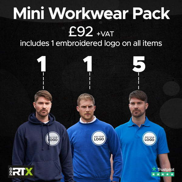 Mini Workwear Polo Bundle example 1 Stickers and That