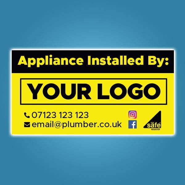 Custom Appliance Installation Stickers