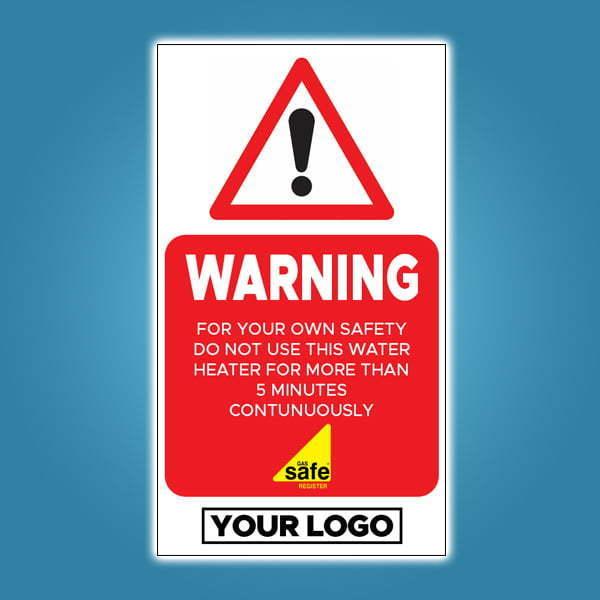 Flueless Warning Stickers