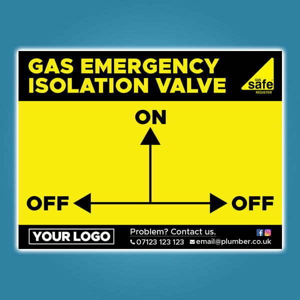 Isolation Valve Instructions Stickers