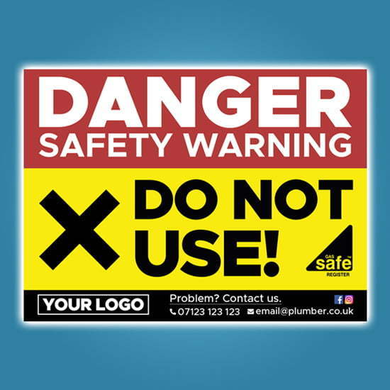 Danger Do Not Use Stickers