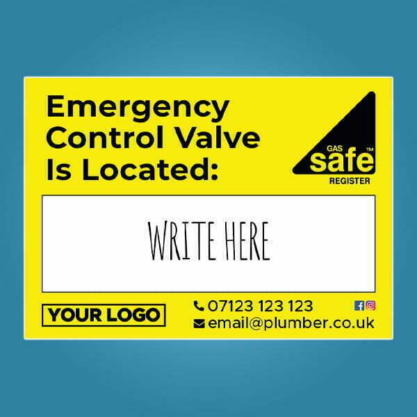 Emergency Control Valve Location Stickers Custom