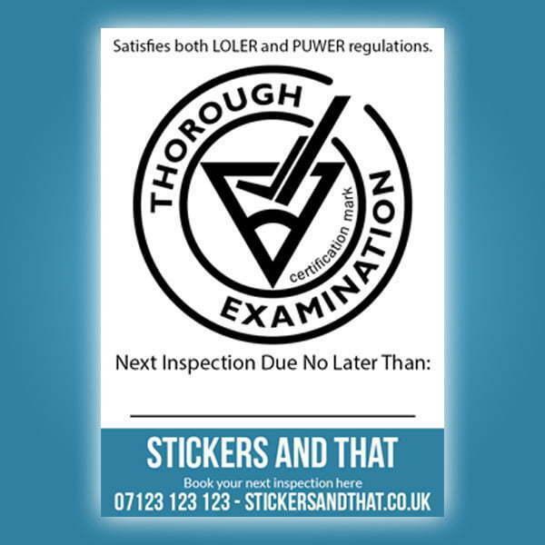 CFTS Inspection Sticker