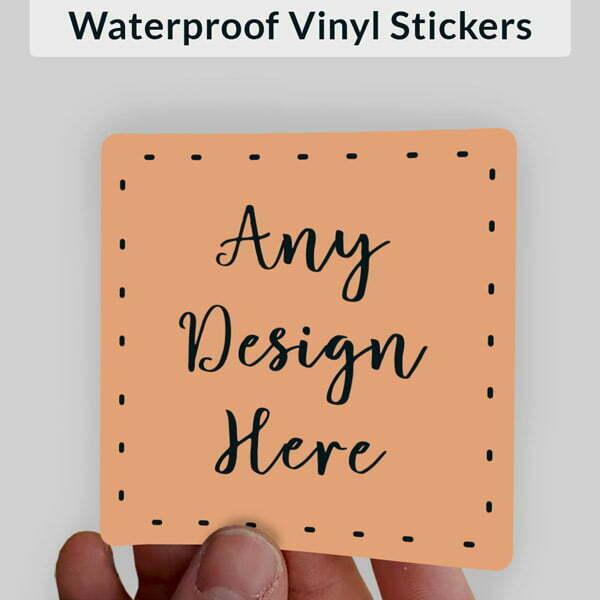 Custom Made Vinyl Stickers Square