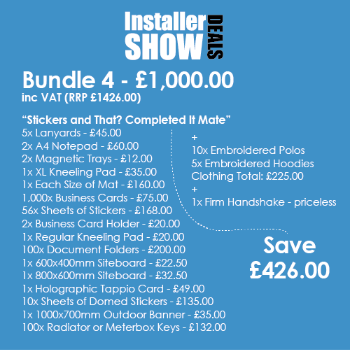 Installer Bundle 4 example 1 Stickers and That